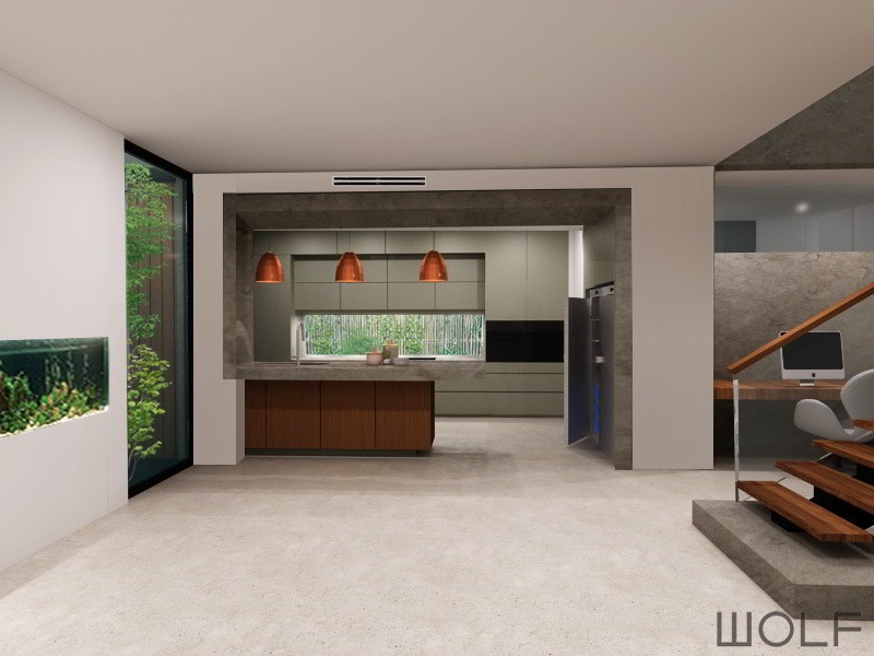 Original interior design artist impression for the Heathmont Kitchen