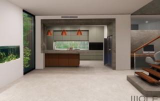 Original interior design artist impression for the Heathmont Kitchen