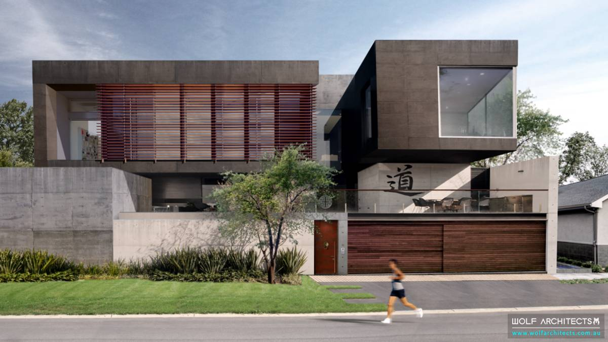 contemporary Modern large luxury Concrete house