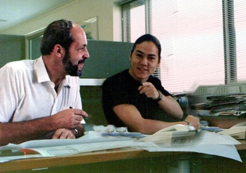 Joe Zly with intern Taras Wolf