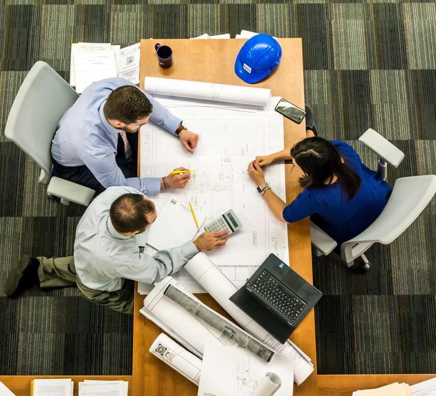 working together at desk