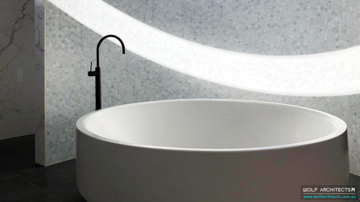 Koay house round circular Master bathtub