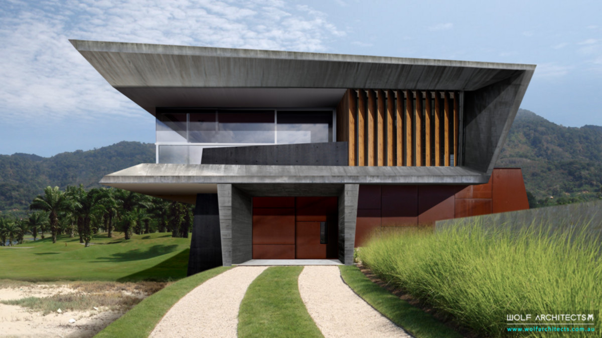 Modern Contemporary Golf Course luxury house