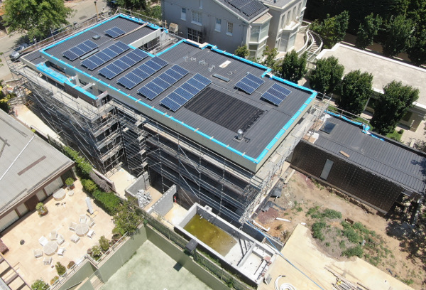 Toorak project Drone image of roof