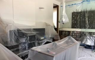 dust covers Taras' office