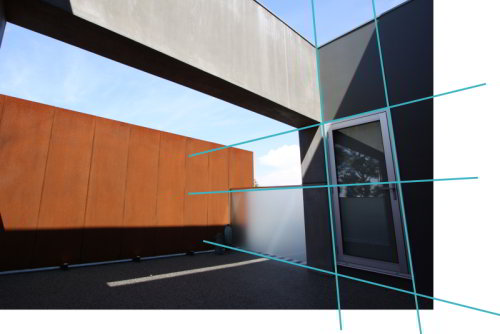 corten screen centering dimensions